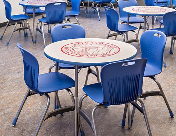 Virco Custom Colors and Logos for School Furniture