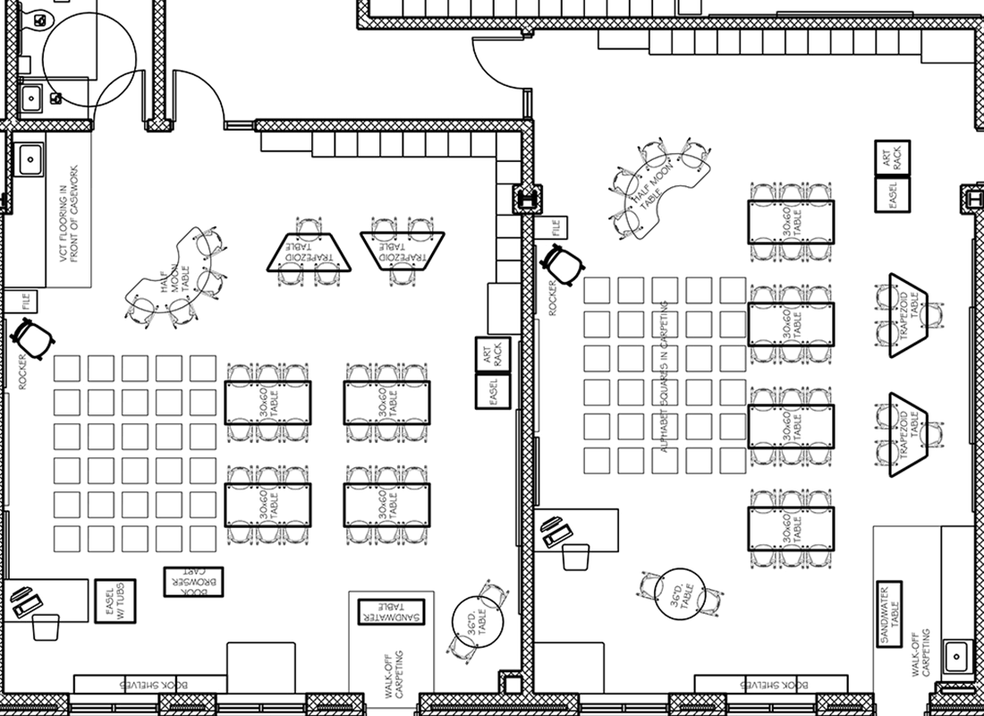 Classroom Design Drawings ~ Preschool and kindergarten furniture for early learning