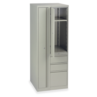 53 Series Wardrobe Tower With Left-Side Locking Garment Storage