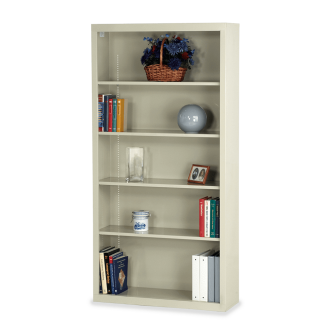 Metal Bookcase with Five Steel Shelves