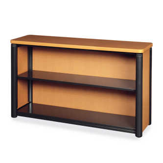 Plateau Series Bookcase with Two Steel Shelves