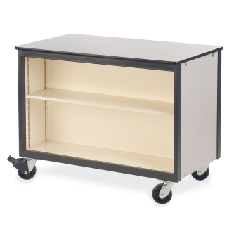 Mobile Storage Series Double-Faced Cabinet With One Adjustable Steel Shelf