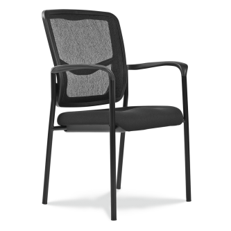 4400 Mesh Back Chair with arms, a fabric foam seat and steel frame.