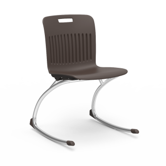 Analogy Rocking Chair with a soft plastic seat bucket and steel frame.