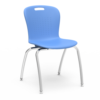 Sage 4-Leg Chair with a soft plastic bucket and Civitas steel frame.