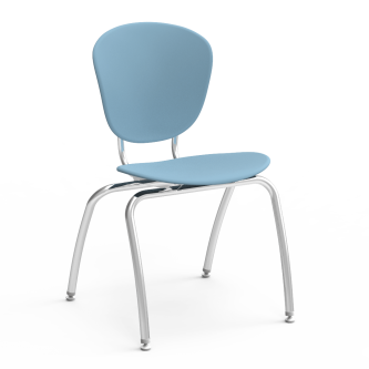 Parison 4-Leg Chair with soft plastic separate seat and back.