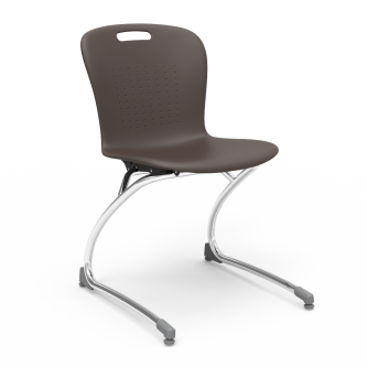 Sage Chair with a soft plastic bucket and Cantilever steel frame.
