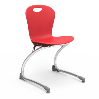 ZUMA Chair with soft plastic seat bucket and steel Cantilever frame.