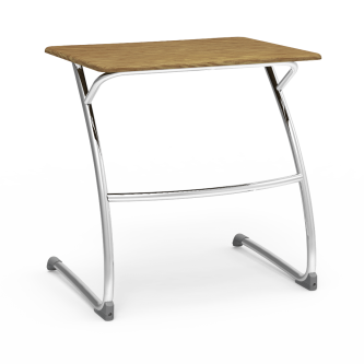 ZUMA Desk Cantilever with a rectangular work surface and steel frame.