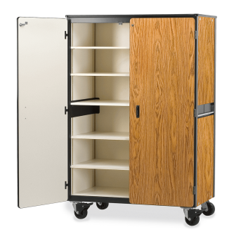 Mobile Storage Series Cabinet With Five Steel Shelves