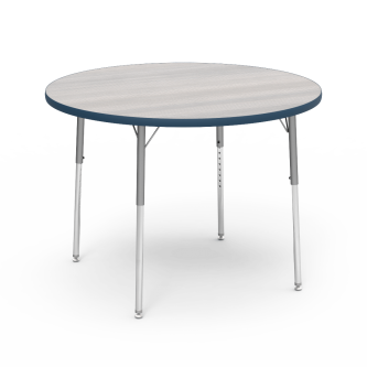 4000 Series Table with a Round Top and Steel Adjustable Legs
