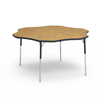 4000 Series Table with a Flower Top and Steel Adjustable Legs
