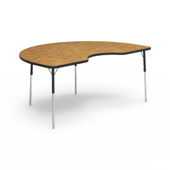 4000 Series Table with a Kidney Top and Steel Adjustable Legs
