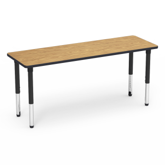 5000 Series Table with Rectangle Top and Adjustable Steel Legs