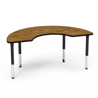 5000 Series Table with Cooperative Top and Adjustable Steel Legs