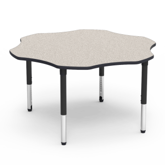 5000 Series Table with Flower Top and Adjustable Steel Legs