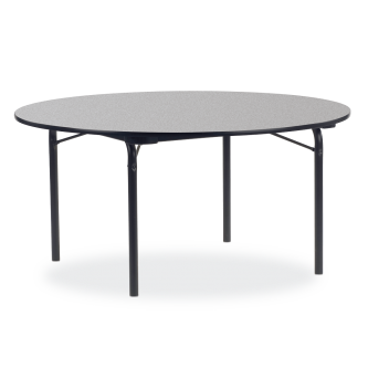 6000 Series Table with Round Top and  Folding Steel Legs