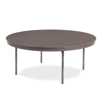 Core-a-Gator Series Round Table with ABS Plastic Top and Folding Steel Legs
