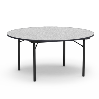 "62000 Series Table with Round"" Top and Folding Steel Legs"