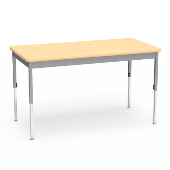 6800 Series Table with Rectangle Top, Steel Apron, and Adjustable Steel Legs