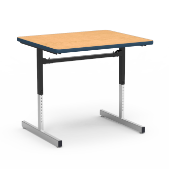 "8700 Series Table with"" Rectangle Top and Adjustable Steel Legs"