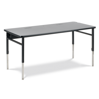 Flip Top Technology Table with Rectangle Top and Adjustable Steel Legs