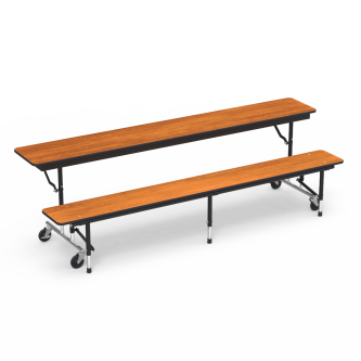 MTC Series Mobile Convertible Bench Table with Rectangle Top