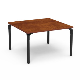 Plateau Series Table with Square Top and Steel Legs