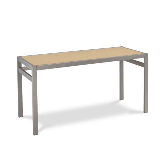 Makerspace Series Table with Plywood Insert Top and Steel Frame