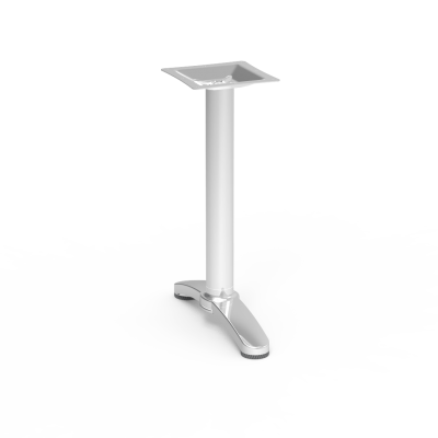 Lunada Cafe Base with a tubular steel column and bi-point shaped aluminum feet.