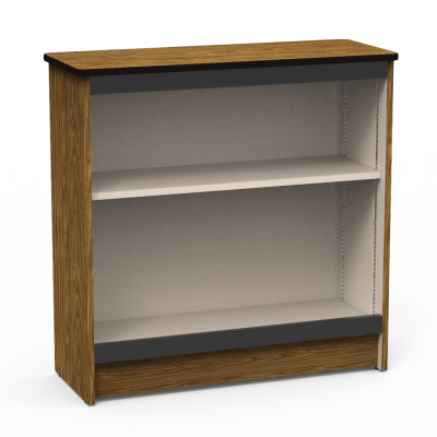 Steel Frame Bookcase with Two Steel Shelves
