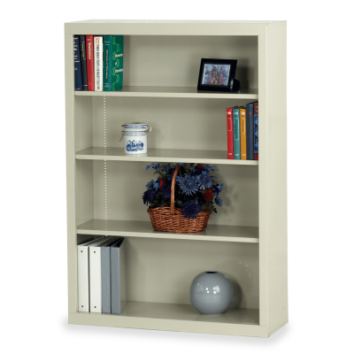 Metal Bookcase with Four Steel Shelves