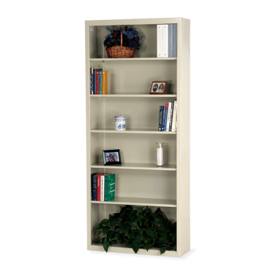 Metal Bookcase with Six Steel Shelves