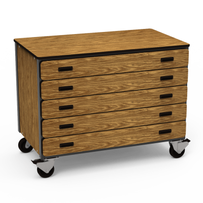 Mobile Storage Series Cabinet With Five Drawers