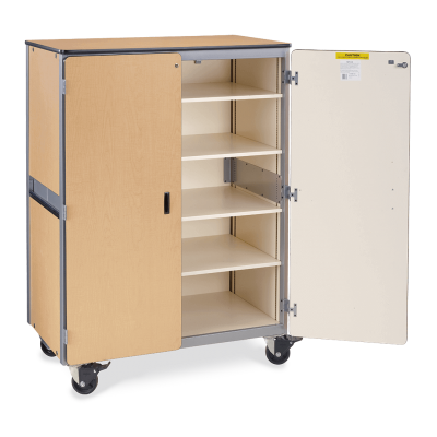 Mobile Storage Series Cabinet With Four Shelves