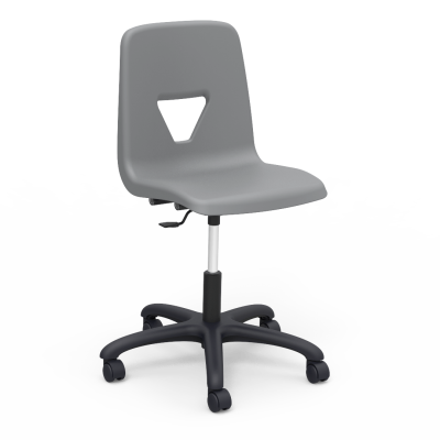 2000 Task Chair with pedestal base, five prong hooded swivel casters, and soft plastic chair bucket
