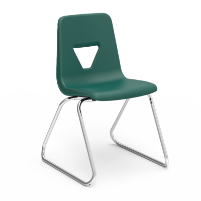 2000 Stack Chair with soft plastic chair bucket and steel sled base