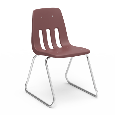 9000 Sled-Based Chair with soft plastic seat bucket and steel frame