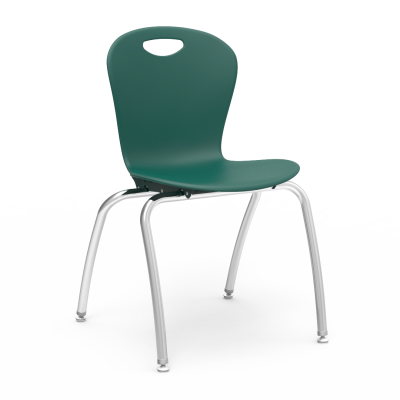 ZUMA 4-Leg Chair with a soft plastic seat bucket and Civitas steel frame.