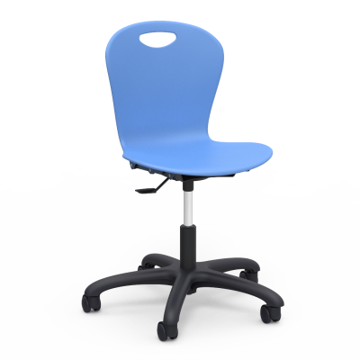 "ZUMA Mobile Task Chair with a pedestal base, and five 2"" diameter, dual wheel, hooded swivel casters."