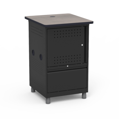 Instructor Media Tower with Locking Steel Cabinet