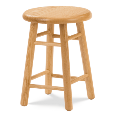 """123 Series 18"""" high Lab Stool with all wood seat and frame."""