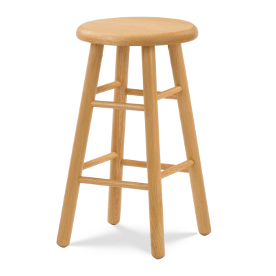 """123 Series 24"""" high Lab Stool with all wood seat and frame."""