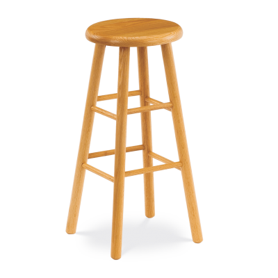 """123 Series 30"""" high Lab Stool with all wood seat and frame."""