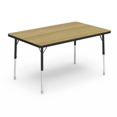 ... Image 4000 Series Table With A Rectangle Top And Steel Adjustable Legs
