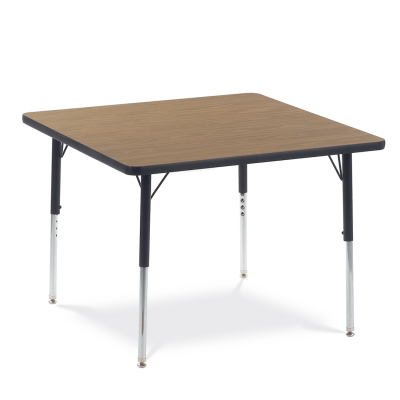 4000 Series Table with a Square Top and Steel Adjustable Legs