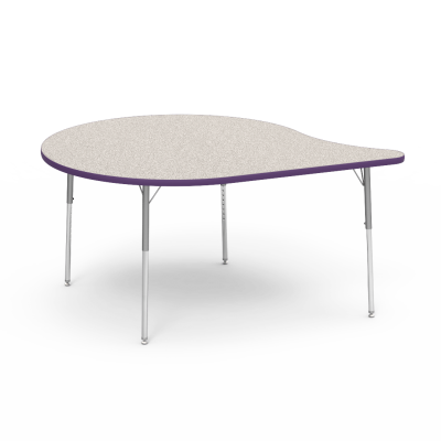 4000 Series Table with Bubble Shape Top and Adjustable Steel Legs