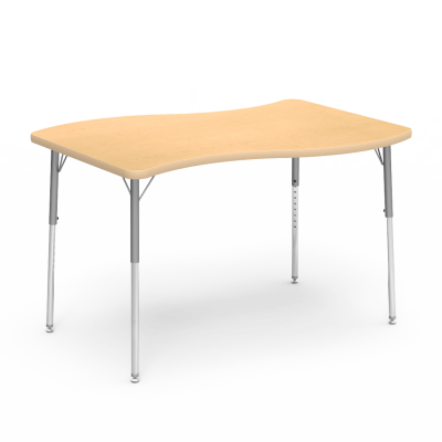 4000 Series Table with Slide Top and Adjustable Steel Legs
