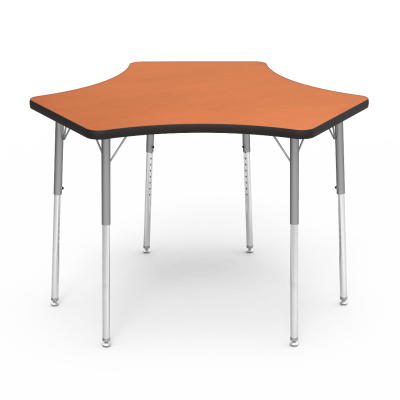 4000 Series Table with Spoke Shape Top and Adjustable Steel Legs