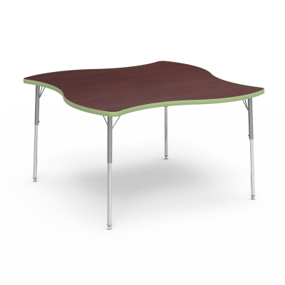 4000 Series Table with Swerve Shape Top and Adjustable Steel Legs